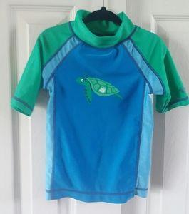 Boys UV Skinz Turtle Print Rashguard Top